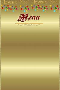 Modele De Menu A Imprimer Gratuit : menu vierge no l ~ Melissatoandfro.com Idées de Décoration