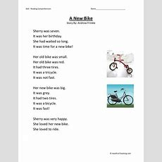 Reading Comprehension Worksheet  A New Bike