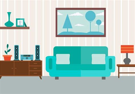 Room Drawing Clipart by Free Vector Livingroom Free Vector Stock