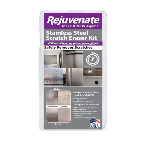 how to remove scratches from brushed stainless steel sink rejuvenate stainless steel scratch eraser kit rjssrkit
