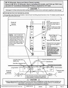 Universal Fifth Wheel Rail Installation Kit Instructions