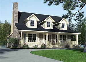 Refined, Country, Home, Plan