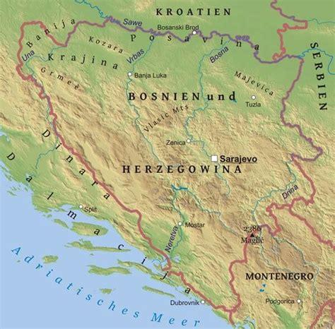 Karte von Bosnien - Freeworldmaps.net