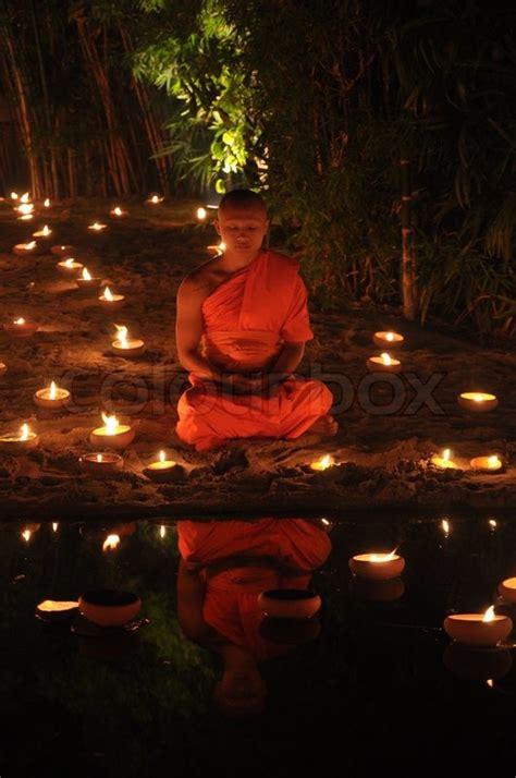 chiang mai thailand dec buddhist monk meditation