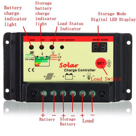 Solar Panel Battery Regulator Auto Switch