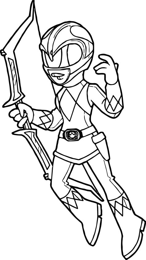 Mighty Morphin Power Ranger Coloring Pages Acpra