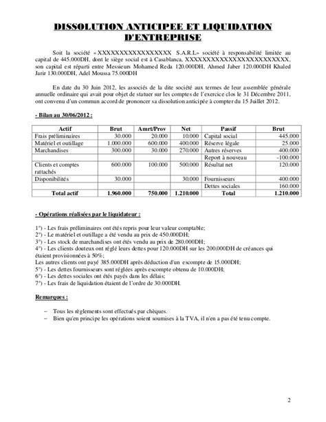 société générale siege social de la dissolution à la cloture de liquidation pdf