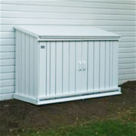 white garbage shed outdoor wooden garbage can storage bin provide attractive