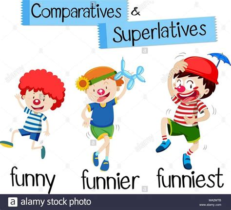 superlatives cartoon  images english fun