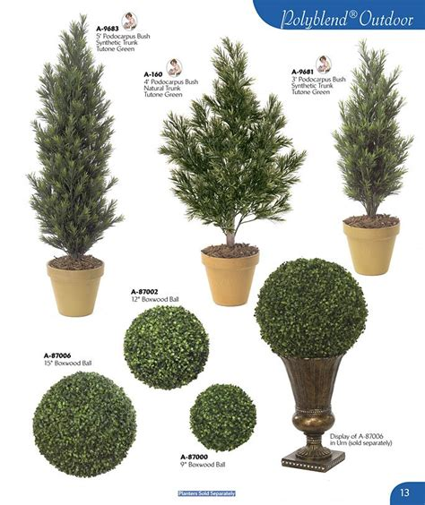 artificial bushes and trees