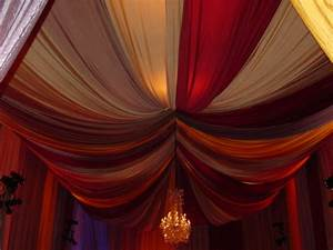 i want to do some sort of fabric draping on the ceiling With black ceiling drapes