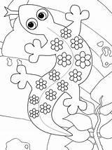 Coloring Gecko Cartoon Coloringpagesfortoddlers Disimpan Dari Creation Doghousemusic sketch template