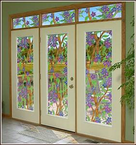 tiffany stained glass cling biscayne see thru window film With what kind of paint to use on kitchen cabinets for static cling stickers