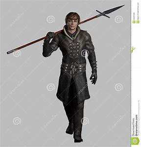 Medieval Or Fantasy Spearman Royalty Free Stock Image ...