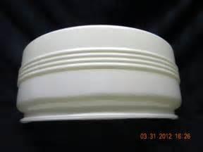 apartment bathroom ideas light cover white glass 1950 60s ceiling light light