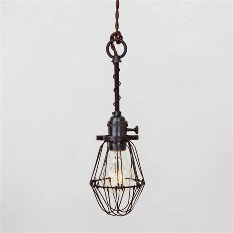pendant light basic bulb cage light switch industrial hanging