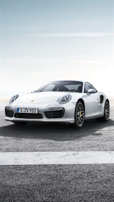 2013 Porsche 911 Turbo S White Wallpaper