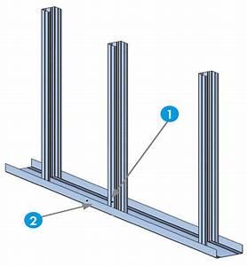 Cloison Sur Rail : cloison knauf m tal acoustique kma 11 170 100 35 ks 25 ou kh 25 ou khd 25 cloison acoustique ~ Nature-et-papiers.com Idées de Décoration