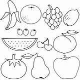 Coloring Fruit Printable sketch template