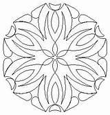 Flower Block Hexagon 1438 Jan Quilting Medallion Centre Quilt Mountaintopquilting Stencils Patterns Specific Designs sketch template