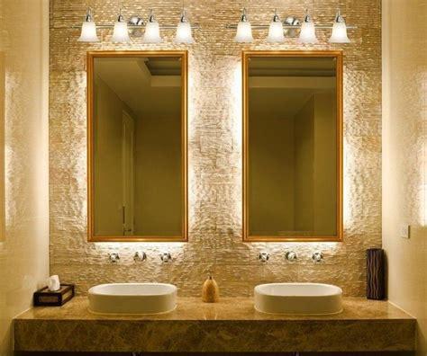 bathroom lighting fixtures  mirror  double sink
