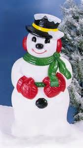icy snowman with hat christmas lawn and garden decorations snowman general foam plastice corp