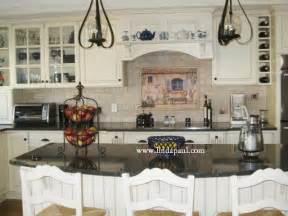 White French Country Kitchen Tile Backsplash