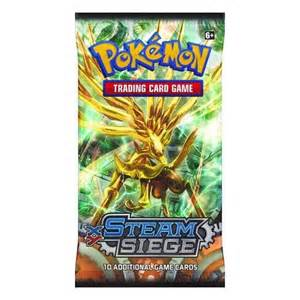 pokemon sealed booster pack 10 cards xy steam siege p