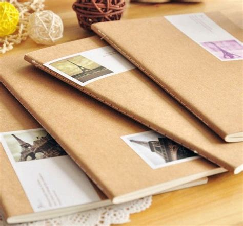 Vintage style kraft paper notebook/composition book/Dairy ...