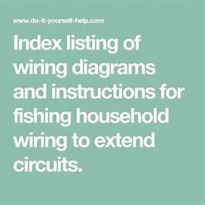 Index Listing Of Wiring Diagrams And Instructions For