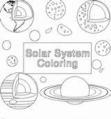 Solar Coloring System Printable Planets Space sketch template