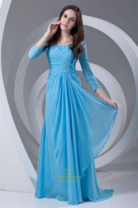 sleeve light blue dress vintage light blue sleeves ruffles chiffon of