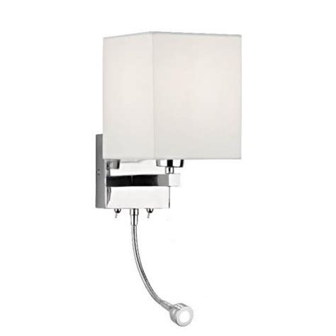 dar dar tat0950 tatton 2 light modern wall light led flexi
