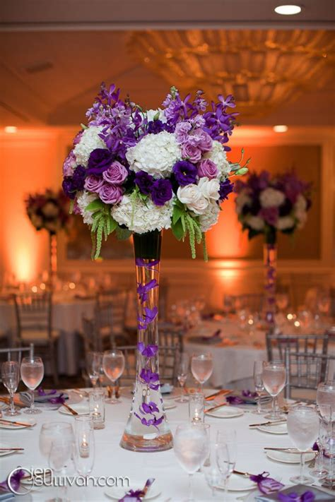 purple reception wedding flowers wedding decor wedding