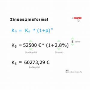 Zins Berechnen Formel : lektion g19 zinseszins und zinseszinsformel matheretter ~ Themetempest.com Abrechnung