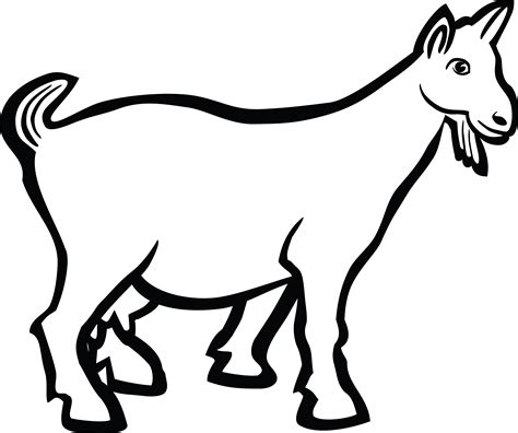 Coloring Kambing by Free Clipart Of A Goat