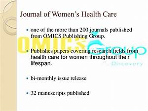 Journal of Women's Health Care