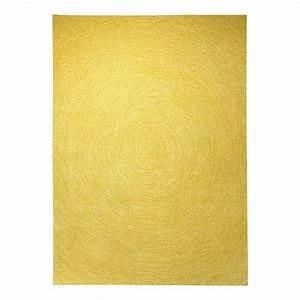 Tapis jaune moutarde for Tapis jaune avec canapé flexform occasion