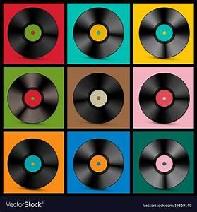 Vintage vinyl records Royalty Free Vector Image