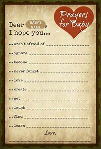 prayer for prayer and baby showers on pinterest With baby time capsule letter