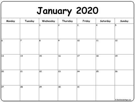 printable   calendar monday throught friday