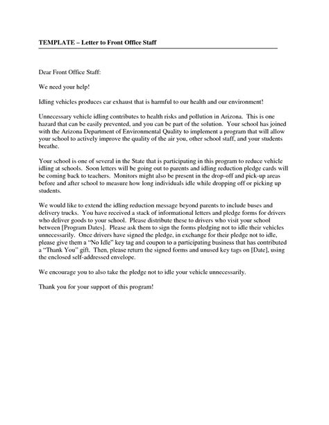 front desk cover letter best photos of office letter format office assistant