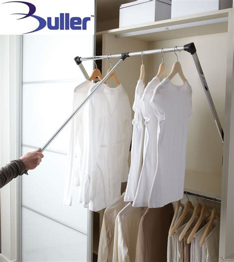 Lift / Pull Down Wardrobe Rail with