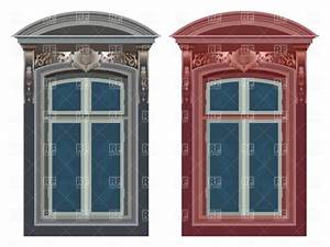 Old ornate windows Royalty Free Vector Clip Art Image ...