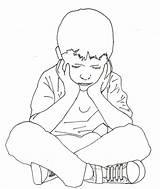 Sitting Drawing Boy Complex Yahoo Bench Child Shampoo Keg Getdrawings Alone Stress Trauma Drawn Watercolors Traumatic Disorder Emotional Bacheca Scegli sketch template