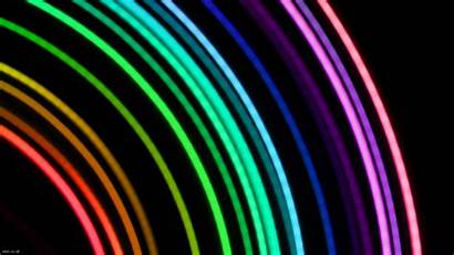 Neon Rainbow Clipart Colors Bright Background Backgrounds