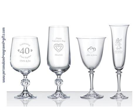 Fine Engraved European Crystal Wine Glasses & Flutes