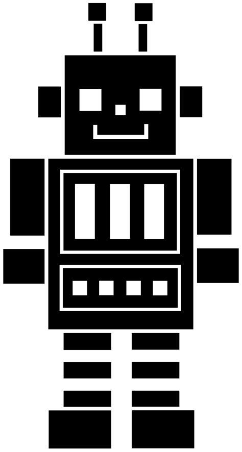 Black Robot Silhouette - Free Clip Art