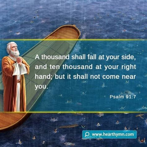 psalm  gods protection bible quote image
