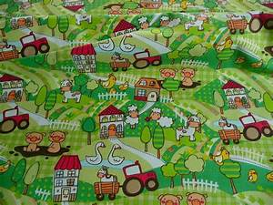 Jersey Stoffe Kinder : kinderstoff 100 baumwolle gr n tiere bauernhof traktor kinder stoff fabrics for kids ~ Markanthonyermac.com Haus und Dekorationen